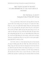 THỰC TRẠNG TẬP HỢP NỮ TRÍ THỨC CỦA HỘI LIÊN HIỆP PHỤ NỮ VIỆT NAM VÀ ĐỀ XUẤT GIẢI PHÁP - PHẦN 1 ppt