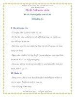 Giáo án chương trình mới: Lớp lá Đề tài: Trường mầm non của bé pdf