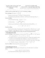 đề thi thử tốt nghiệp thpt môn toán - thpt lương thế vinh đề (16)