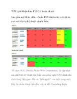 W3C giới thiệu bản CSS 2.1 hoàn chỉnh docx