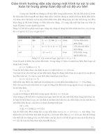 Giáo trình hướng dẫn xây dựng một trình tự xử lý các toán tử trong phép toán đại số có độ ưu tiên p1 pdf