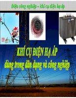Điện công nghiệp - khí cụ điện hạ áp trong dân dụng và công nghiệp doc