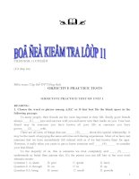 Bài tập tiếng anh 11 có đán án và mục lục. Do giáo viên THPT Cheghevara Bến Tre  biên soạn