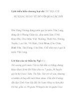 Lịch triều hiến chương loại chí - DƯ ĐỊA CHÍ SỰ KHÁC NHAU VỀ BỜ CÕI QUA CÁC ĐỜI pptx