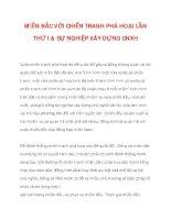 MIỀN BẮC VỚI CHIẾN TRANH PHÁ HOẠI LẦN THỨ I & SỰ NGHIỆP XÂY DỰNG CNXH_1 doc
