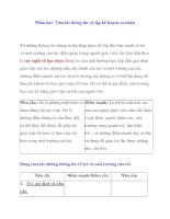 Giáo án cho trẻ khiếm thính: Phần hai: Tóm tắt thông tin và lập kế hoạch cá nhân doc