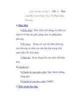 Giáo án đại số lớp 9 - Tiết 6 Liên Hệ Giữa Phép Chia Và Phép Khai Phương ppt