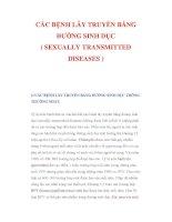 CÁC BỆNH LÂY TRUYỀN BẰNG ĐƯỜNG SINH DỤC ( SEXUALLY TRANSMITTED DISEASES )1/ CÁC pot