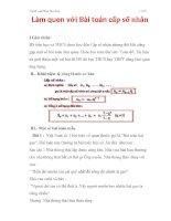 Làm quen với Bài toán cấp số nhân potx