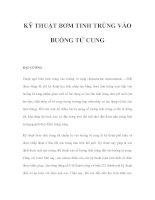 KỸ THUẬT BƠM TINH TRÙNG VÀO BUỒNG TỬ CUNG pdf