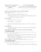đề thi thử tốt nghiệp thpt môn toán - thpt lương thế vinh đề (13)