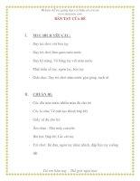 Giáo án chương trình đổi mới BÀN TAY CỦA BÉ pdf