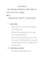 Giáo án đại số lớp 8 - Tiết 56: LIÊN HỆ GIỮA THỨ TỰ VÀ PHÉP CỘNG pps