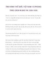 TÌNH HÌNH THẾ GIỚI, VIỆT NAM VÀ PHONG TRÀO CÁCH MẠNG VN 1936-1939_3 pps