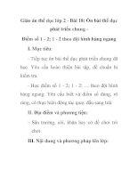 Giáo án thể dục lớp 2 - Bài 18: Ôn bài thể dục phát triển chung Điểm số 1 - 2; 1 - 2 theo đội hình hàng ngang docx
