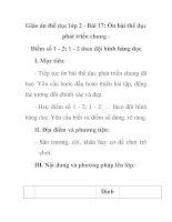 Giáo án thể dục lớp 2 - Bài 17: Ôn bài thể dục phát triển chung Điểm số 1 - 2; 1 - 2 theo đội hình hàng dọc pptx
