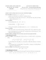 đề thi thử tốt nghiệp thpt môn toán - thpt lương thế vinh đề (18)