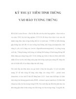 KỸ THUẬT TIÊM TINH TRÙNG VÀO BÀO TƯƠNG TRỨNG pdf