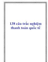 138 câu trắc nghiệm thanh toán quốc tế pptx