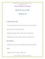 Giáo án chương trình mới: Lớp lá Đề tài: Sắc màu tự nhiên pdf
