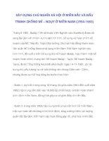 XÂY DỰNG CHỦ NGHĨA XÃ HỘI Ở MIỀN BẮC VÀ ĐẤU TRANH CHỐNG MĨ – NGỤY Ở MIỀN NAM (1954-1965)_6 pdf