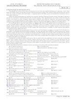 ĐỀ THI THỬ ĐẠI HỌC LẦN 2. NĂM 2011 Môn: Tiếng Anh - Khối D Mã đề: 158 pot