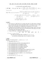 Các chú ý và lời giải cho một số bài toán cơ bản