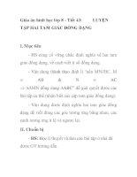 Giáo án hình học lớp 8 - Tiết 43: TẬP HAI TAM GIÁC ĐỒNG DẠNGLUYỆN pot