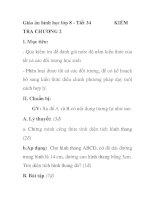Giáo án hình học lớp 8 - Tiết 34 TRA CHƯƠNG 2 pps