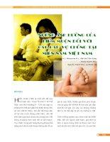 NHỮNG ẢNH HƯỞNG CỦA HIẾM MUỘN ĐỐI VỚI ĐỜI SỐNG CÁC CẶP VỢ CHỒNG potx