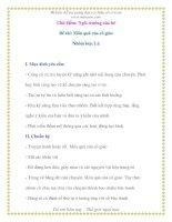 Giáo án chương trình mới: Lớp lá Đề tài: Món quà của cô giáo potx