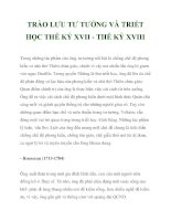 TRÀO LƯU TƯ TƯỞNG VÀ TRIẾT HỌC THẾ KỶ XVII_3 pdf