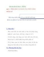 Giáo án đại số lớp 6 - Tiết 81 TÍNH CHẤT CƠ BẢN BẢN CỦA PHÉP CỘNG PHÂN SỐ pps