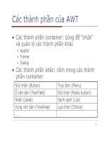 Lập trình Java cơ bản : Lập trình GUI (Applet) part 2 pdf