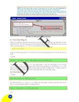 Giáo trình hướng dẫn sử dụng các chương trình thiết kế công trình giao thông bằng VBA phần 8 docx