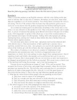 Giáo án Bồi dưỡng học sinh giỏi khối 12: READING COMPREHENSION doc