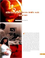 SIÊU ÂM CHUẨN ĐOÁN THIẾU MÁU THAI NHI pdf