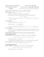 đề thi thử tốt nghiệp thpt môn toán - thpt lương thế vinh đề (15)