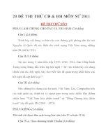 20 ĐỀ THI THỬ CĐ & ĐH MÔN SỬ 2011ĐỀ THI THỬ SỐ 9+10+11+12 docx