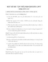 MỘT SỐ BÀI TẬP TRẮC NGHIỆM ESTE-LIPIT HÓA HỮU CƠ_1 pdf
