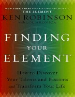 Finding your element  how to discover your talents and passions and transform your life   ken robinson  lou aronica