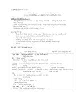 Giáo án mầm non chương trình đổi mới: Đề tài: ÔN KHỐI CẦU , TRỤ, CHỮ NHẬT, VUÔNG pptx