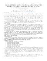 BÁO CÁO NGHIÊN CỨU KHOA HỌC KỸ THUẬT: KHẢO SÁT CÁC GIỐNG THUỐC LÁ VÀNG NHẬP NỘI TRỒNG TRÊN MỘT SỐ VÙNG ĐẤT KHÁC NHAU pps