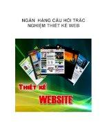 NGÂN HÀNG CÂU HỎI TRẮC NGHIỆM THIẾT KẾ WEB_3 pot