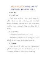 Giáo án hình học 10 :: TÍCH VÔ HƯỚNG CỦA HAI VECTƠ (Tiết 1) ppsx