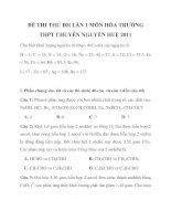 ĐỀ THI THỬ ĐH LẦN 1 MÔN HÓA TRƯỜNG THPT CHUYÊN NGUYỄN HUỆ 2011_1 potx