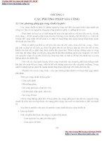 GIÁO TRÌNH CƠ SỞ CÔNG NGHỆ CHẾ TẠO MÁY - CHƯƠNG 3 CÁC PHƯƠNG PHÁP GIA CÔNG doc