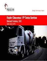 kepler cheuvreux 15th swiss seminar bernard fontana ceo zurich april 2 2014 holcim strength performance passion
