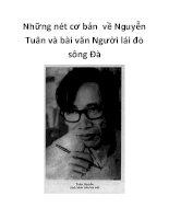 Những nét cơ bản về Nguyễn Tuân và bài văn Người lái đò sông Đà._1 pot