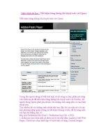 Giáo trình tin học : Tiết kiệm băng thông khi duyệt web với Opera pdf